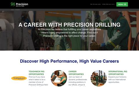 Screenshot of Jobs Page precisiondrilling.com - Precision Drilling Corporation - Careers - captured July 21, 2018