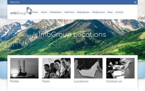 Screenshot of Locations Page imbgroup.com - Locations - ImbGroupImbGroup - captured Oct. 21, 2018