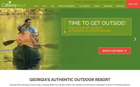Screenshot of Home Page callawaygardens.com - Callaway Resort & Gardens   Georgia's Authentic Outdoor Resort - captured Sept. 23, 2018
