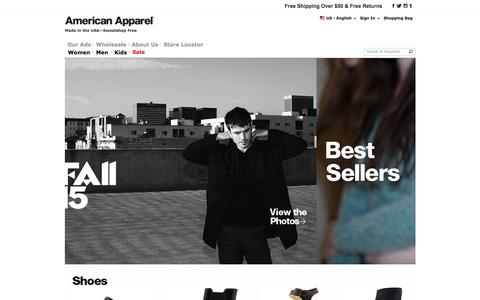 American Apparel – Designed, Cut and Sewn in Los Angeles | American Apparel