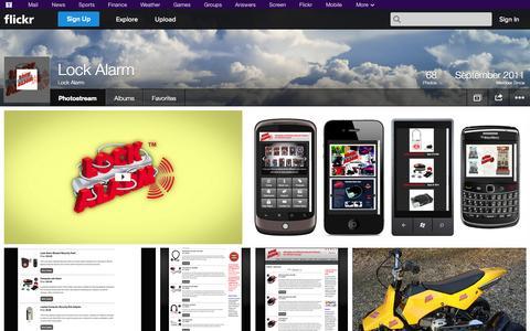 Screenshot of Flickr Page flickr.com - Flickr: Lock Alarm's Photostream - captured Oct. 23, 2014