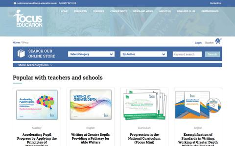 Screenshot of Products Page focus-education.co.uk - Focus Education Online Shop - captured Oct. 14, 2017