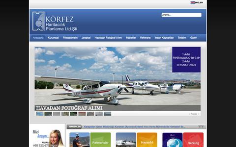 Screenshot of Home Page korfezharita.com - KÖRFEZ HARITACILIK PLANLAMA LTD. STI. - captured Oct. 6, 2014
