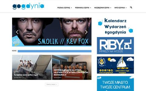 Screenshot of Home Page gogdynia.pl - To co najlepsze w Gdyni - gogdynia.pl - captured May 25, 2017