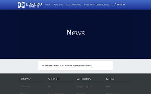 Screenshot of Press Page lokoro.com - news - captured Oct. 1, 2014