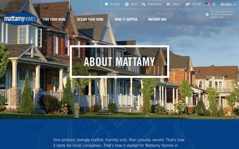 Screenshot of About Page mattamyhomes.com - About Mattamy: The Mattamy Story | Mattamy  Homes - captured Nov. 23, 2015