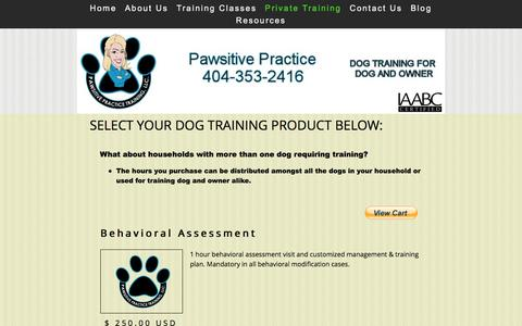 Screenshot of Pricing Page pawsitivepractice.com - Dog Training Tools and Accessories - captured Jan. 26, 2016