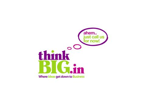 Screenshot of Home Page thinkbig.in - ThinkBIG.in - Where Ideas get down to Business - captured Oct. 10, 2014