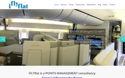 Screenshot of Home Page iflyflat.com.au - IFLYFLAT - Financial Planning for Frequent Flyer Points - captured Sept. 24, 2014
