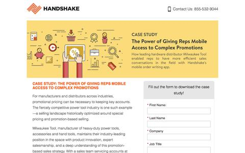 Screenshot of Landing Page handshake.com captured April 13, 2018