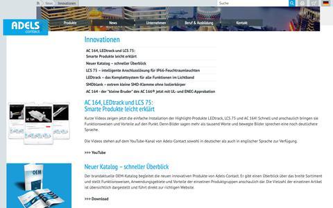 Screenshot of Press Page adels-contact.de - Adels-Contact - Innovationen - captured Oct. 3, 2018