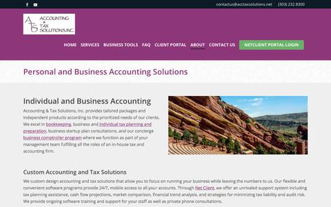 Screenshot of About Page acctaxsolutions.net - Personal and Business Accounting Solutions | ATS - captured Oct. 7, 2017