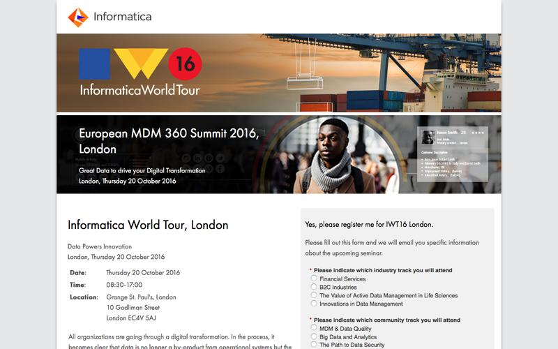 Informatica World Tour, London
