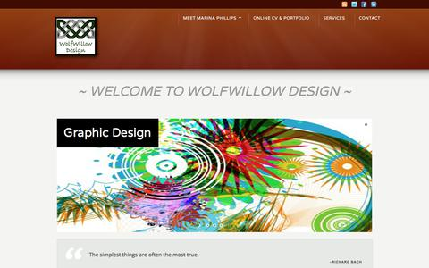 Screenshot of Home Page wolfwillowdesign.com - WolfWillow Design - captured Sept. 20, 2018
