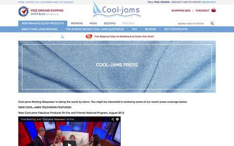 Screenshot of Press Page cool-jams.com - Cool-jams Press - captured Sept. 19, 2014