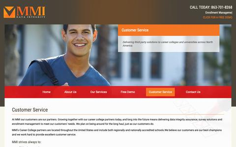 Screenshot of Support Page mmicollegeconnection.com - Customer Service – Career College Connection - captured Nov. 11, 2018