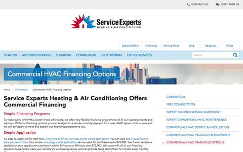 Commercial Financing in North America | Service Experts Heating & Air Conditioning