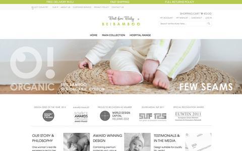 Screenshot of Home Page beibamboo.com - B E I B A M B O O - captured Jan. 26, 2015