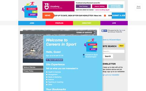 Screenshot of Terms Page careers-in-sport.co.uk - Terms of Service - captured Jan. 7, 2016
