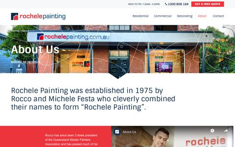 Screenshot of About Page rochelepainting.com.au - About Us   Rochele Painting - captured Sept. 21, 2019