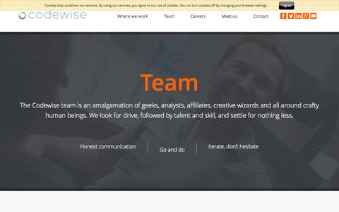 Screenshot of Team Page codewise.com - Codewise - Meet our team. - captured June 16, 2015