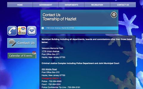 Screenshot of Contact Page hazlettwp.org - Contact Us - captured Jan. 27, 2016