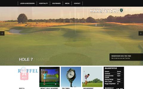 Screenshot of Home Page internationalgolfmaastricht.com - Home - International Golf Maastricht - captured Sept. 7, 2015
