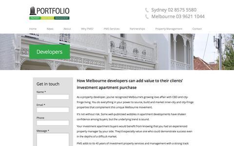 Screenshot of Developers Page portfolioms.com.au - Property Investment & Property Developers - Portfolio MS - captured Oct. 2, 2014