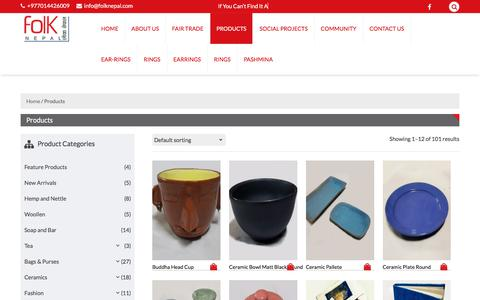 Screenshot of Products Page folknepal.com - Products –   FOLKNEPAL - captured Aug. 19, 2018