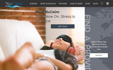 Screenshot of Home Page nucalm.com - NuCalm ® - From Now On, Stress is a Choice - captured Oct. 20, 2018