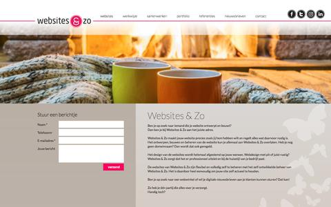 Screenshot of Home Page websites-enzo.nl - Websites & Zo | ontwerp en bouw van professionele websites - captured Feb. 11, 2018