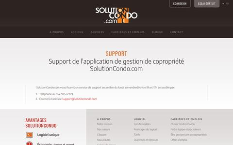 Screenshot of Support Page solutioncondo.com - Support | Solution Condo - captured Oct. 20, 2018