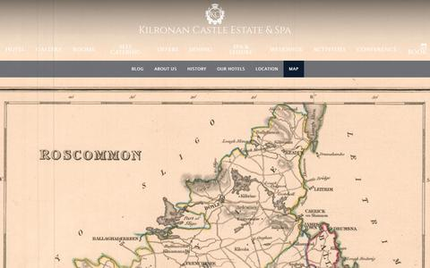 Screenshot of Maps & Directions Page kilronancastle.ie - Maps & Directions, Hotel Map, Kilronan Castle Estate & Spa - captured June 24, 2017