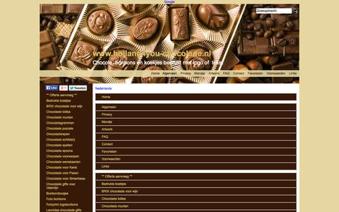 Screenshot of Site Map Page Menu Page holland4you-chocolade.nl - Map - captured Oct. 22, 2014