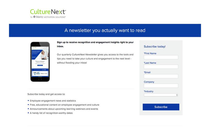 Subscribe to the CultureNext Employee Engagement Newsletter