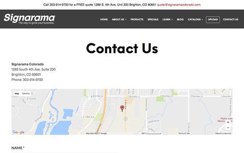 Contact Us | Signarama Colorado