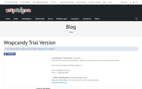 Screenshot of Trial Page wrapcandy.com - WrapCandy.com | Wrapcandy Trial Version | - captured Sept. 30, 2014