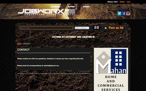 Screenshot of Contact Page jobworx.us - CONTACT | JOBWORX - captured Oct. 4, 2014