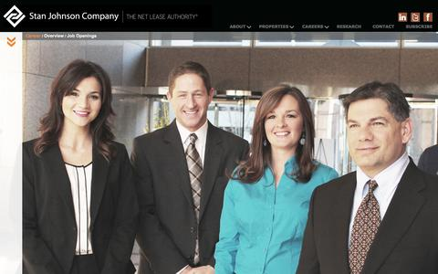 Screenshot of Jobs Page stanjohnsonco.com - Careers | Stan Johnson Company | The Net Lease Authority - captured Nov. 1, 2014