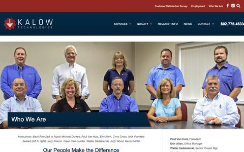Screenshot of About Page kalowtech.com - Kalow Technologies - About Us   Responsive, Effective, and Flexible - captured Oct. 14, 2018