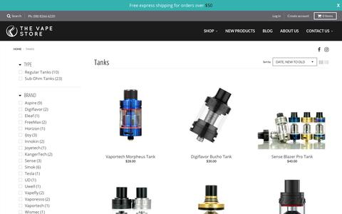 Tanks – The Vape Store
