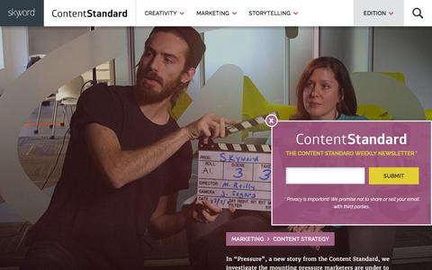 Screenshot of Blog skyword.com - Content Marketing News & Resources - The Content Standard by Skyword - captured May 23, 2016