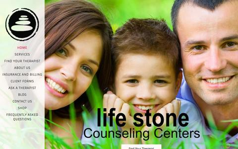 Screenshot of Home Page lifestonecenter.com - Life Stone Counseling Centers: Depression, Marriage Counseling, Anxiety, Addiction, Trauma, EMDR - captured Oct. 2, 2014