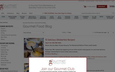 Screenshot of Blog gourmetfoodstore.com - Gourmet Food Blog - Gourmet Food Store - captured Dec. 12, 2015