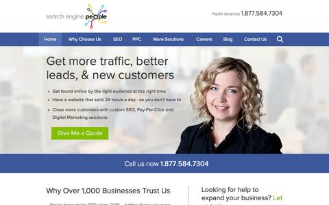 Screenshot of Home Page Maps & Directions Page searchenginepeople.com - Canada's Best SEO (Search Engine Optimization ) & PPC Company | SEP - captured Sept. 18, 2014
