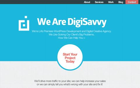 Screenshot of Home Page digisavvy.com - Los Angeles WordPress Development and Content Strategy - captured Sept. 30, 2014
