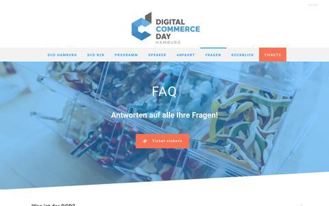 Screenshot of FAQ Page digital-commerce-day.de - Digital Commerce Day Fragen - captured Feb. 2, 2018