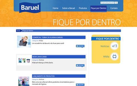 Screenshot of Blog baruel.com.br - Baruel - Cuidado e proteção sempre - captured Sept. 30, 2014