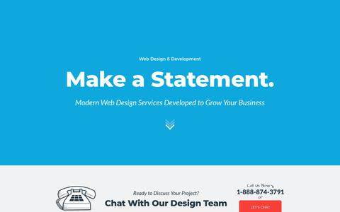 Screenshot of Services Page mainstreethost.com - Small Business Web Design Services & Web Development Company | Mainstreethost - captured March 26, 2018