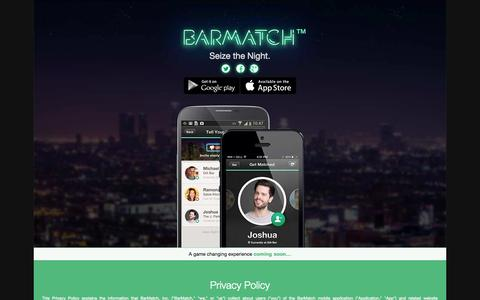 Screenshot of Privacy Page barmatch.com - Privacy Policy | Barmatch App - captured Sept. 30, 2014